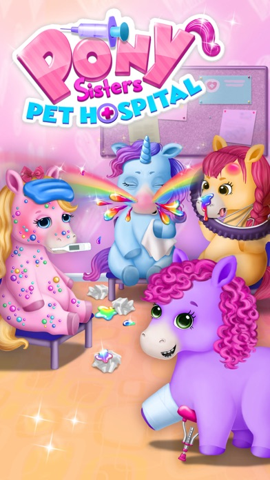 Pony Sisters Pet Hospital - Pink Horse Doctor screenshot 1