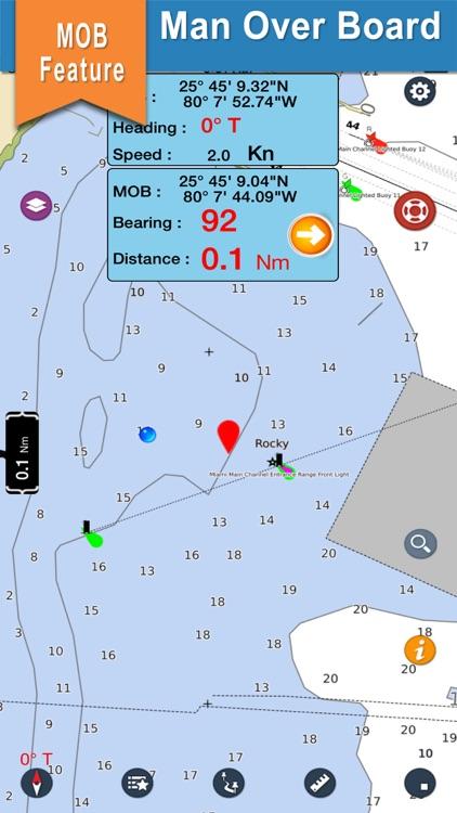 Boating Oregon Nautical Charts screenshot-3