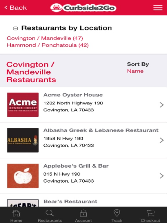 Curbside2Go Restaurant Delivery Service-ipad-1