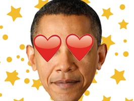 Celebrate our #44th President Barack Obama with this sticker pack to say Thanks Obama