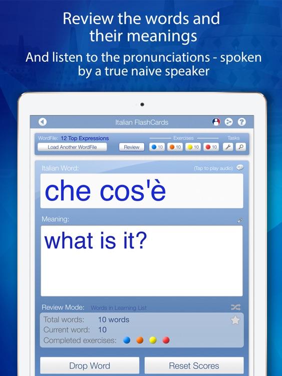 Learn Italian FlashCards for iPad