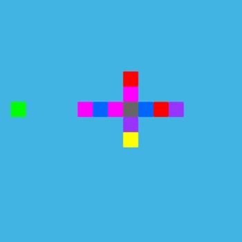 Rotated color blocks to eliminate strange fas