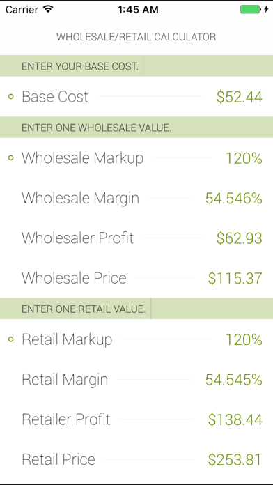 messages.download Wholesale/Retail Calculator software