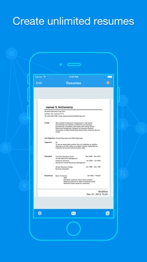 Quick Resume Resumes Builder and Designer on the App Store