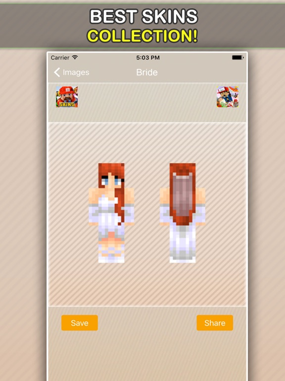 Wedding, Bride and Groom Skins For Minecraft PE-ipad-3