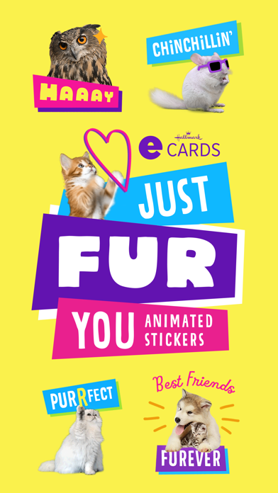 Just Fur You - Animated Hallmark Stickers screenshot 1