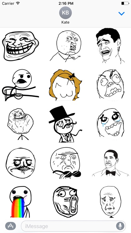 Rage Comics Stickers