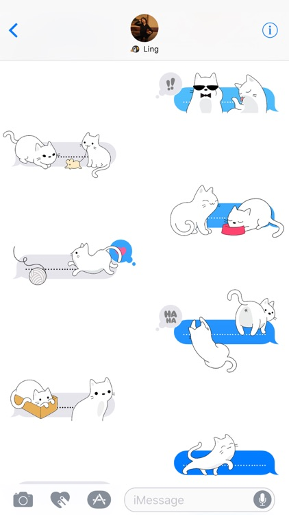 Yuki Neko - Kitty Cat Fun Pet Stickers screenshot-2
