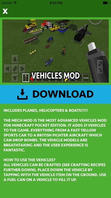 CARS MOD FOR MINECRAFT PC GAME screenshot-3