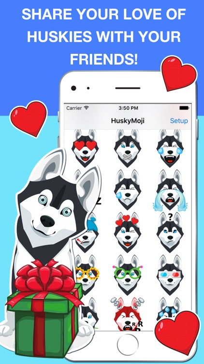HuskyMoji - Siberian Husky Emoji Keyboard Stickers screenshot-1