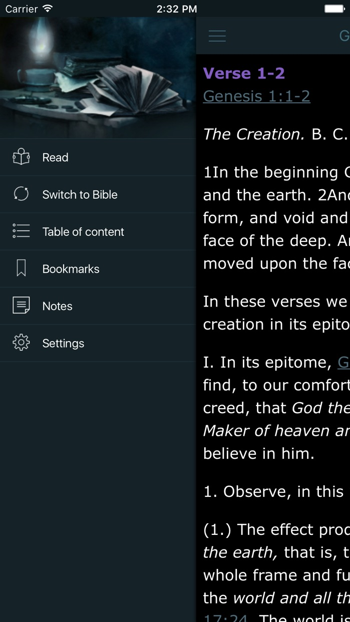 Matthew Henry Complete Bible Commentary Offline Screenshot