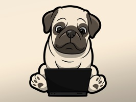 React with cute Pug Dog Stickers and Emojis Pack3