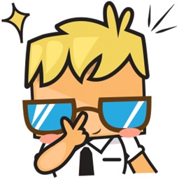 Gogo the cool guy for iMessage Sticker