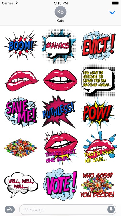 Celebrity Big Brother Stickers