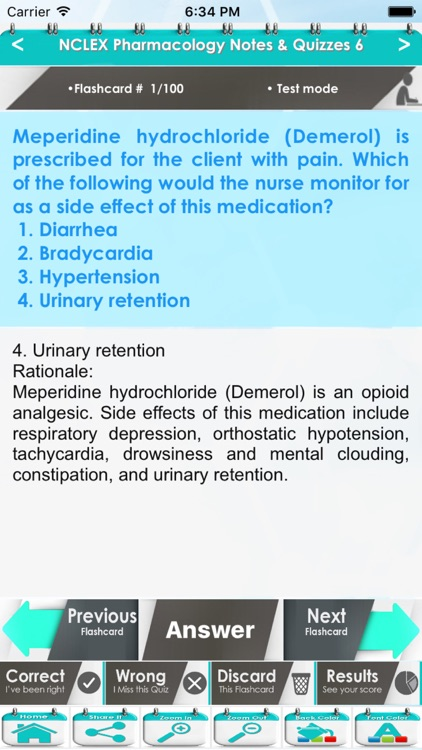 Pharmacology NCLEX Questions 4600 Exam Quiz screenshot-4