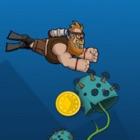 疯狂潜水员 - 寻找金币和珍珠 icon