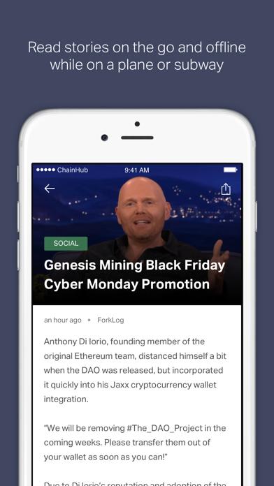 ChainHub — Blockchain and Bitcoin News Aggregator screenshot two