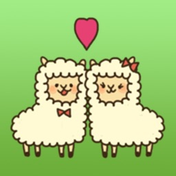 Lovely Couple Of Alpaca Stickers