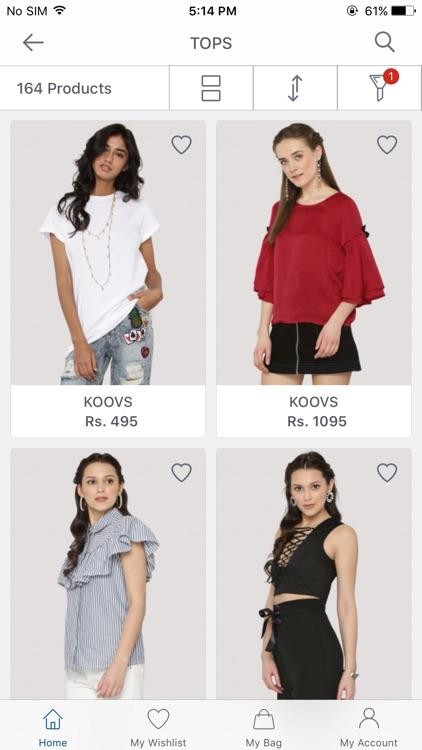 Koovs - Online Shopping App