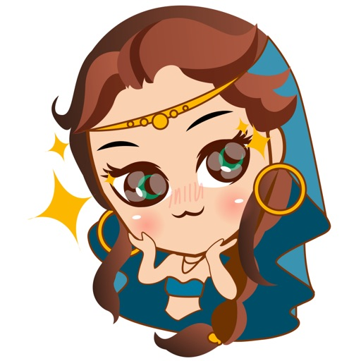 Cute arabian princess for iMessage Sticker