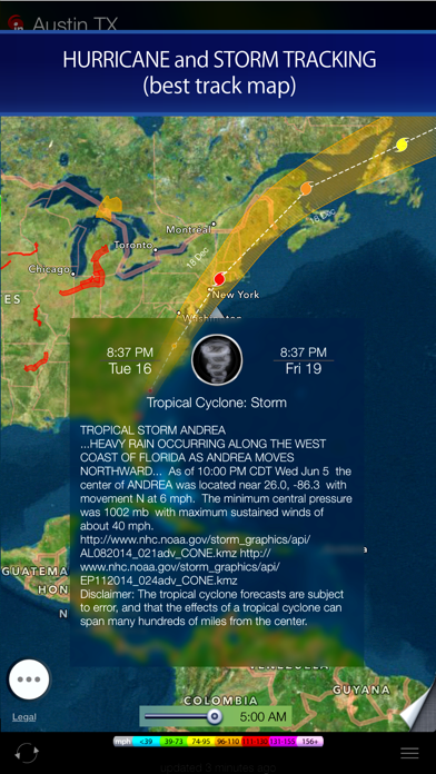 Radar HD - Future NOAA Doppler Weather Radar Screenshot