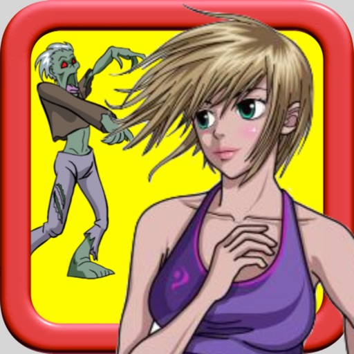 Girl vs Zombie: Running And Chasing