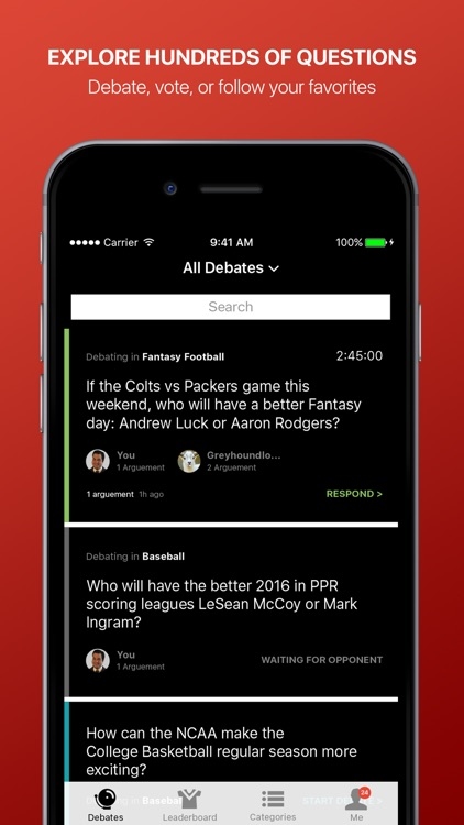 Fandings - Social Network for Sports Debate