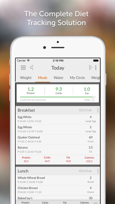 My Macros+ Diet, Weight and Calorie Tracker app image