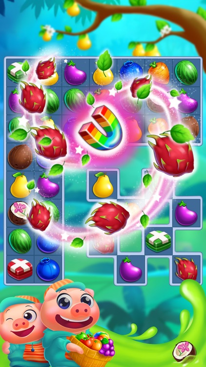 Monster Fruit Pop Jam: match 3 games matching free screenshot-2