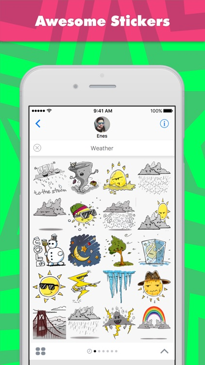 Weather stickers by Enes