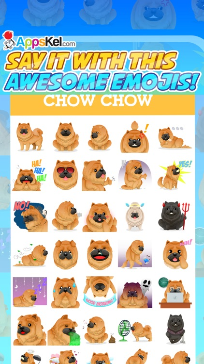Chowmoji: Chow-Chow Dog Emoji & Stickers App screenshot-3