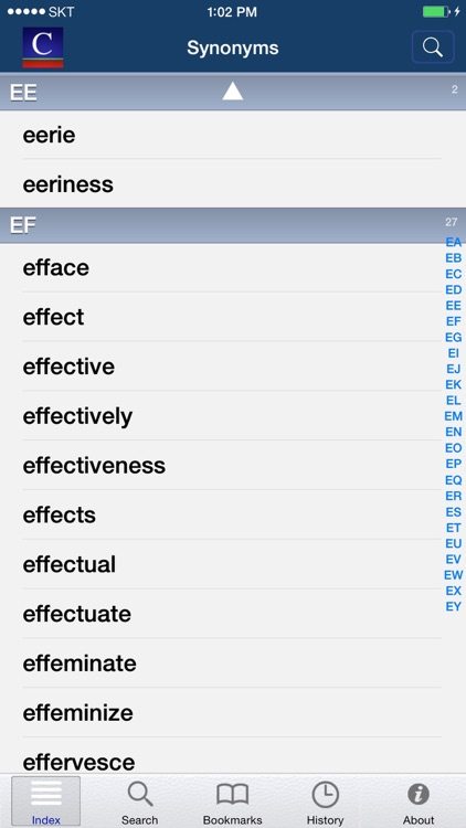 Companion Synonyms -with Spelling Dictionary screenshot-3