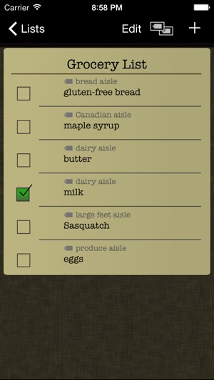 Simple Grocery List on the App Store