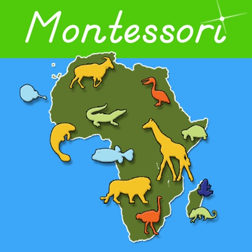 Animals of Africa - Montessori Geography icon