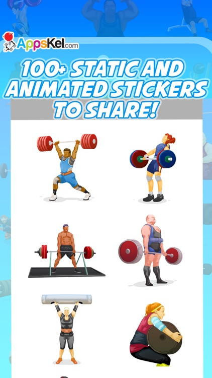 PowerMoji: Weight-Lifting Emoji & Stickers App screenshot-3