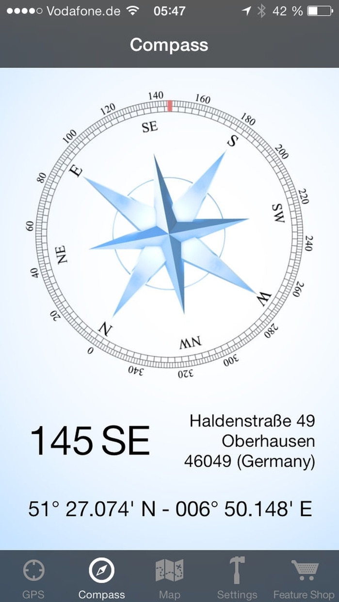 GPS & Maps: Track Coordinates, Compass + Waypoints Screenshot