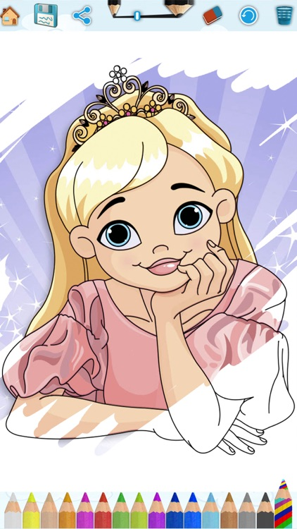 Princess coloring pages for kids – Pro screenshot-3