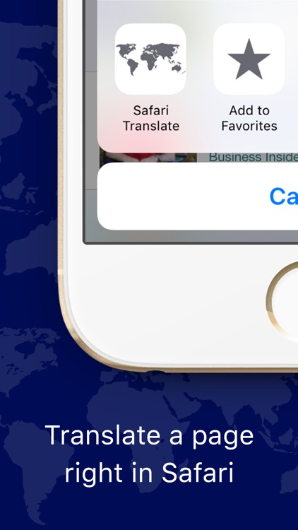 Web Page Translator for Safari