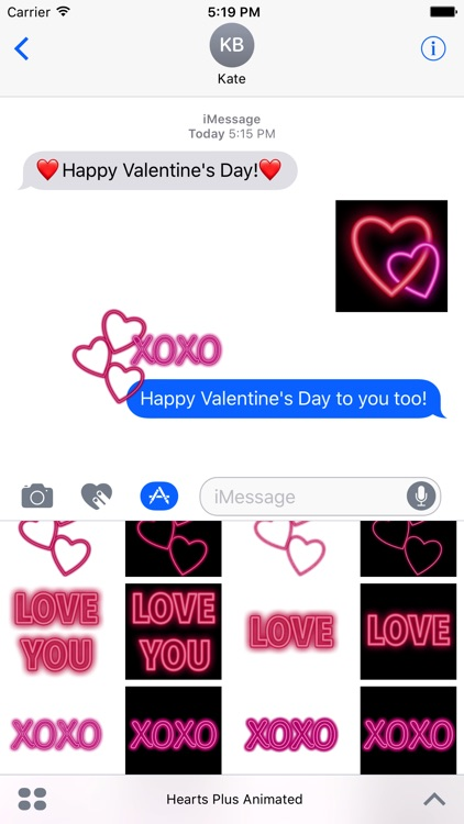 Hearts+ Animated Sticker Pack for iMessage