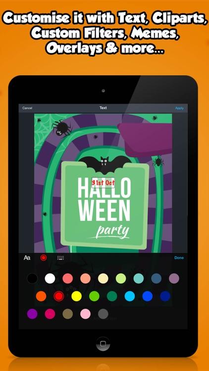 Halloween Party Invitations screenshot-3