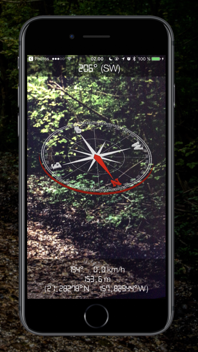 Screenshot #2 pour 3D Compass - Augmented Reality