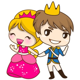 Sweet Royal couple for iMessage Sticker