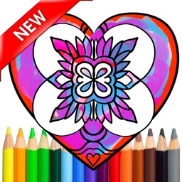 Adult Coloring Beautiful Mandala Stress Relieved