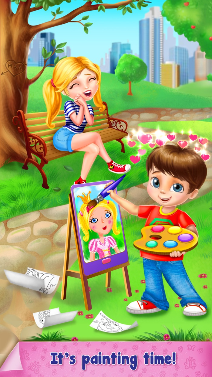 Paint Sparkles Draw Screenshot