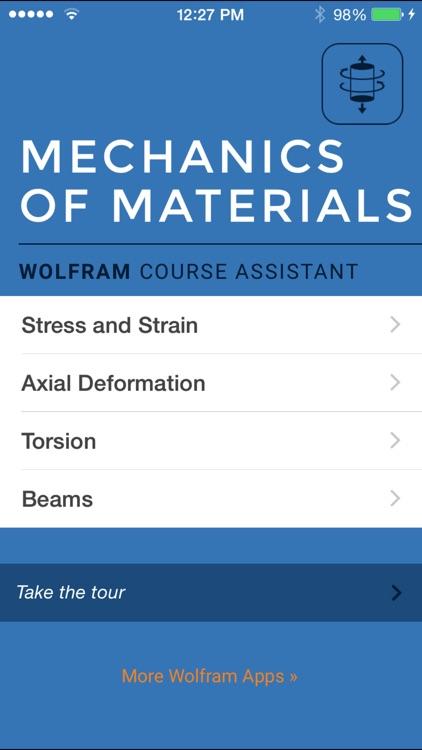 Wolfram Mechanics of Materials Course Assistant