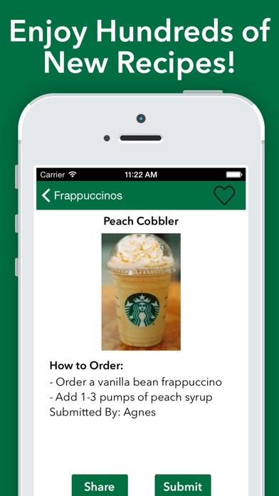 Secret Menu for Starbucks - Coffee Tea Recipes app image