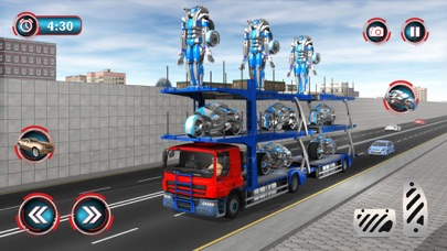 Multi Robot City Transport Driving Sim App 截图