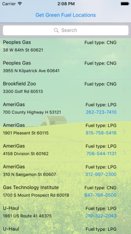 Chicago Green Fuel Finder Free