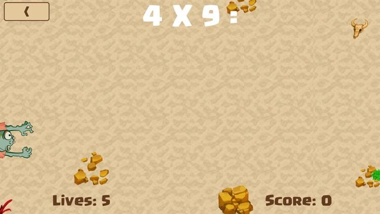 Math Zombie - Multiplication screenshot-3