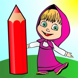 Coloring - Masha and the Bear game for kids